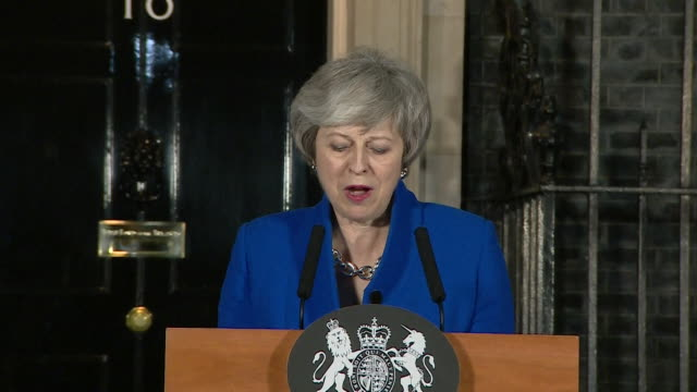 theresa may pm speech outside downing street after surviving the vote of no confidence part 2 - 10 downing street stock videos & royalty-free footage