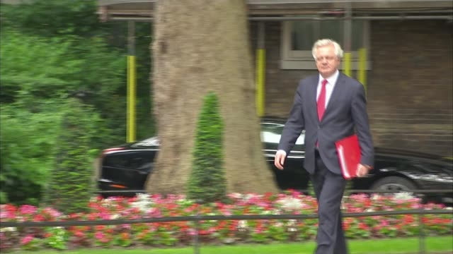Theresa May prepares relaunch as first anniversary of appointment approaches LIB / 1262017 David Davis MP arriving for cabinet meeting