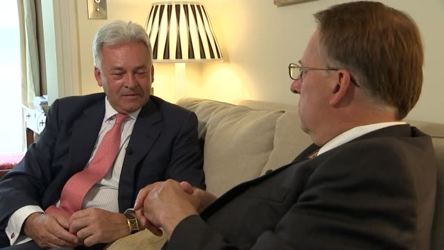 closeups oxford university photo showing alan johnson mp and philip may alan duncan mp interview sot thought of theresa may as future politican she... - alan johnson stock videos & royalty-free footage