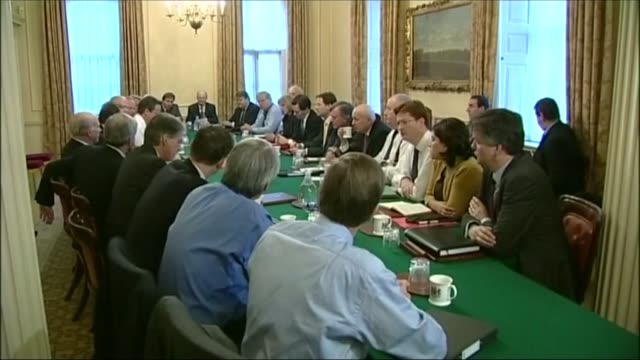 theresa may profile r20101003 / photography*** general view cabinet meeting theresa may with george osborne mp in meeting - george osborne stock videos & royalty-free footage