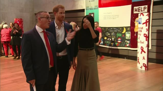 Theresa May rejects comments from Windsor council leader calling for removal of homeless LIB / 1122017 Nottingham Contemporary INT Prince Harry and...