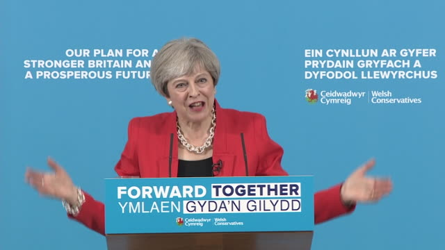 Theresa May responding angrily to accusations she performed a manifesto Uturn by adding a cap to social care payments by saying nothing has changed