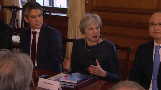 Theresa May saying Britain leaving the EU is no small undertaking but that it will provide opportunity to build on the UK's relationship with Japan...