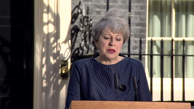 theresa may saying division in westminster and political gameplaying will affect brexit negotiations at a critical stage and that there needs to be a... - allgemeine wahlen stock-videos und b-roll-filmmaterial