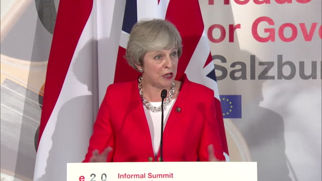 Theresa May saying Donald Tusk and EU leaders are working to get a good Brexit deal but 'there is a lot of work to be done'