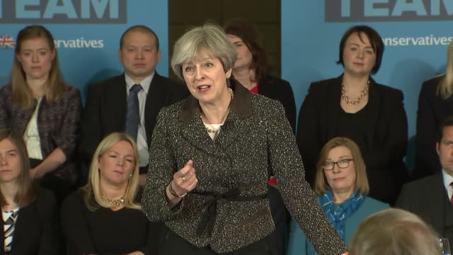 theresa may saying her proposal of an energy cap is right as it helps to support working families - cap stock videos & royalty-free footage