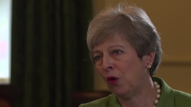 stockvideo's en b-roll-footage met theresa may saying labour were more interested in breaking the conservatives than delivering on brexit - britse labor partij