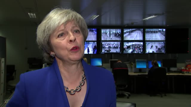theresa may saying people voted for changes in immigration policy in the eu referendum and that the uk will have control over who is allowed to enter... - zoll und einwanderungskontrolle stock-videos und b-roll-filmmaterial