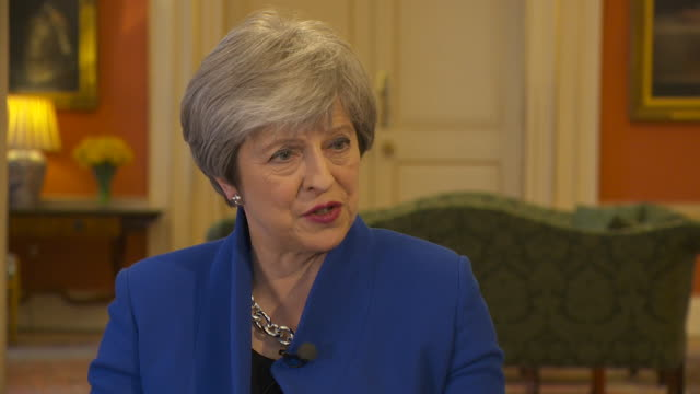 theresa may saying she and leo varadkar would sit down and discuss how to proceed with the irish border proposals postbrexit - leo varadkar stock videos and b-roll footage