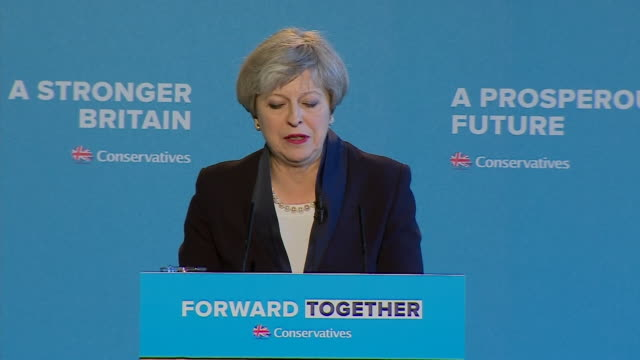 Theresa May saying she believes Britain can emerge from 'this period of national change stronger fairer and more prosperous than ever before' at the...