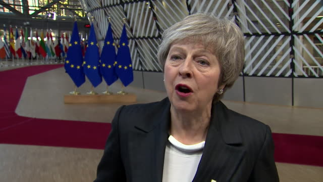 Theresa May saying she is aware of the concerns in Parliament over the backstop arrangement for Brexit and that she intends to bring it up with EU...