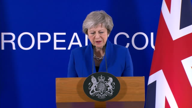 theresa may saying she rejected the idea of a brexit agreement being an impossible task and that it is necessary to compromise to reach a goal - theresa may stock videos & royalty-free footage