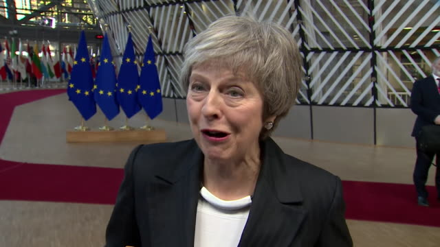 Theresa May saying she would 'love' to lead the Conservative Party into the next general election but respects that the party 'feels it is right to...