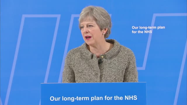 "theresa may saying the government cannot continue to ""put a sticking plaster over the nhs budget"" and that it plans to do more than provide a one-off... - medical dressing stock videos & royalty-free footage"