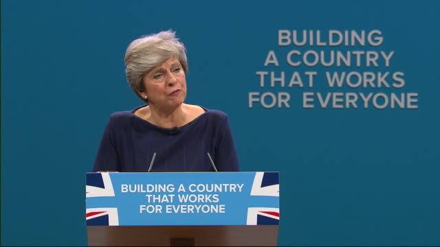 theresa may saying the government will invest £2billion into affordable housing - 住宅問題点の映像素材/bロール