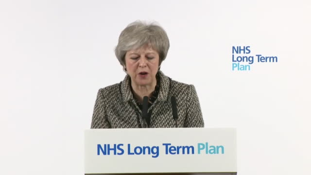 Theresa May saying the government's financial commitment to the NHS is possible 'because of our strong public finances and because we will no longer...