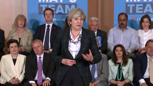 theresa may saying the legal authorities have confirmed what we believed and said all along and that the candidates did nothing wrong in regards to... - unschuld stock-videos und b-roll-filmmaterial