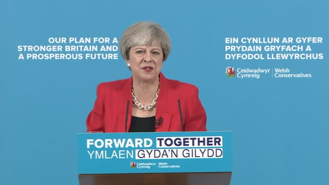Theresa May saying the social care system will collapse if the problem of funding it is not fixed and that she 'intends to fix it'