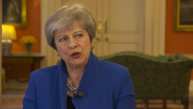 theresa may saying the uk will be able to decide who is allowed into the country and that is the reason why a lot of people voted for brexit - conservative party uk stock videos and b-roll footage