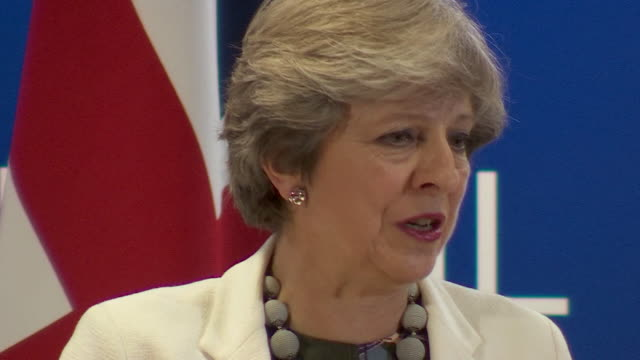theresa may saying the uk will honour any financial commitments it made as a member of the european union - brexit stock videos & royalty-free footage