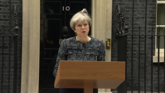 theresa may saying there are some in brussels who do not want these talks to succeed and do not want britain to prosper - solid stock videos & royalty-free footage