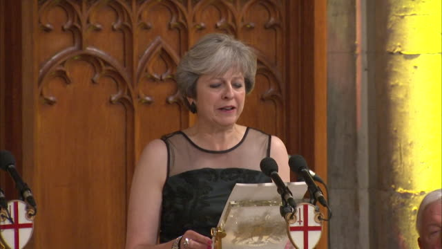 """theresa may saying """"there will be ups and downs along the way, but i believe we should embrace this period with confidence and optimism"""" regarding... - sports period stock videos & royalty-free footage"""