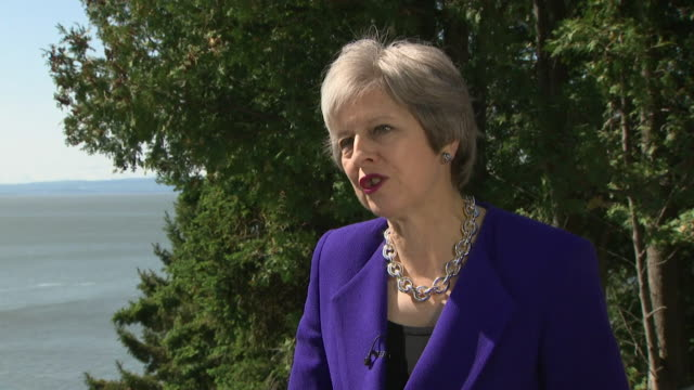 Theresa May saying 'these are complex negotiations but the British people want us to deliver Brexit and I am determined to do that'