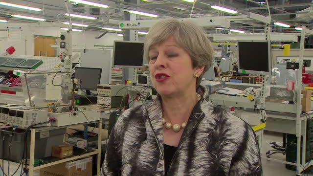theresa may saying this election is about ensuring we have strong and stable leadership in this country strengthening our negotiating hand for brexit... - solid stock videos & royalty-free footage