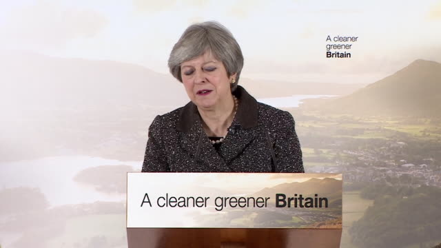 Theresa May saying we have a responsibility to 'protect and enhance' the environment for the next generation