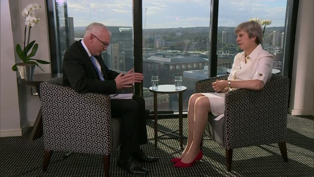 Theresa May says fall in police numbers has no bearing on rise in violent crime ENGLAND Birmingham INT Theresa May MP interview SOT If we look at...