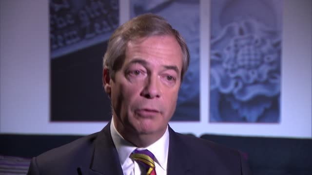 nigel frage interview england london int nigel farage mep interview sot re possible brexit extension - nigel farage stock videos & royalty-free footage