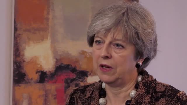 Theresa May speaks about Donald Trump's Tweet about having more powerful nuclear weapons the NHS and stamp duty