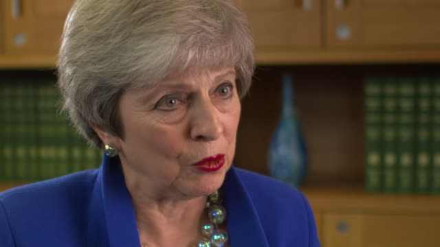 theresa may speaks to rohit kachroo for 'itv tonight' england london int theresa may mp interview sot camera b part 6 of 9 - b rolle stock-videos und b-roll-filmmaterial