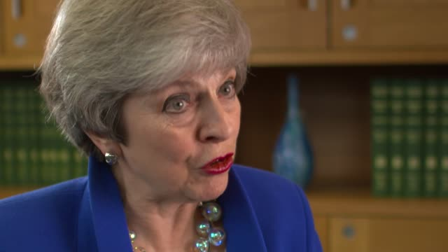 theresa may speaks to rohit kachroo for 'itv tonight' england london int theresa may mp interview sot camera b part 3 of 9 - b rolle stock-videos und b-roll-filmmaterial