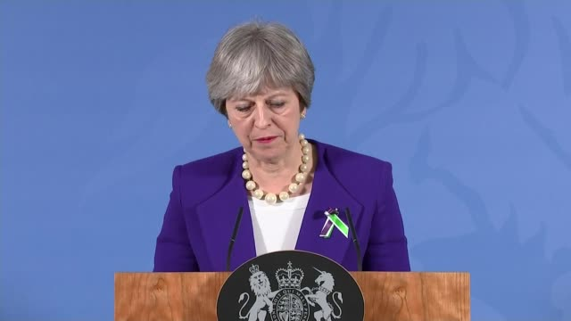 Theresa May speech in Manchester Theresa May speech SOT Today the ideal of a open and public sphere is in danger / Bitterness and aggression enters...