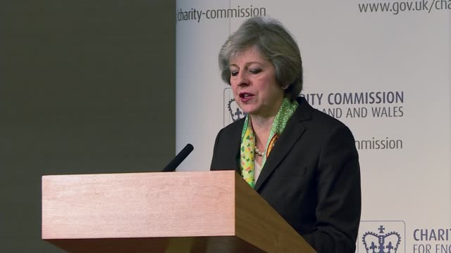 vidéos et rushes de theresa may speech on mental health; london: various of theresa may mp speaking at podium theresa may mp speech sot - the burning injustice of mental... - injustice
