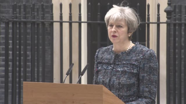 theresa may speech on parliament dissolving meeting the queen brexit brussels brexit talks the race between her and jeremy corbyn making every vote... - 10 downing street stock videos and b-roll footage