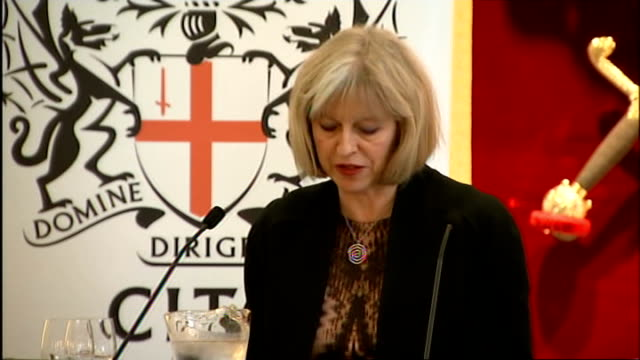 Theresa May speech to Lord Mayor's Defence and Security Lecture ENGLAND London Mansion House INT Theresa May MP speech SOT please check against...