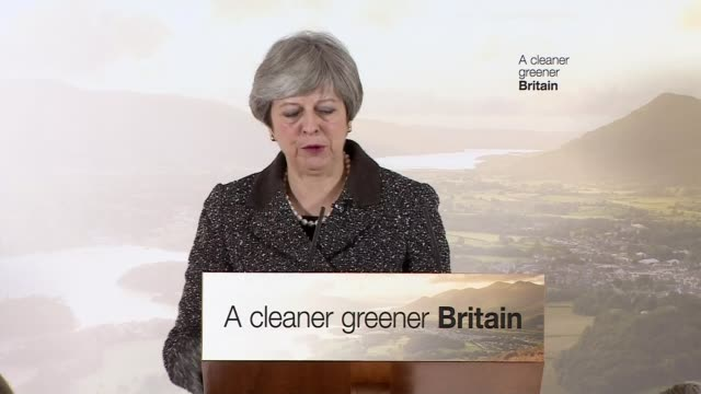 Theresa May stakes claim to green mantle with environment plan ENGLAND London Barnes WWT London Wetland Centre INT Theresa May MP speech SOT it's...