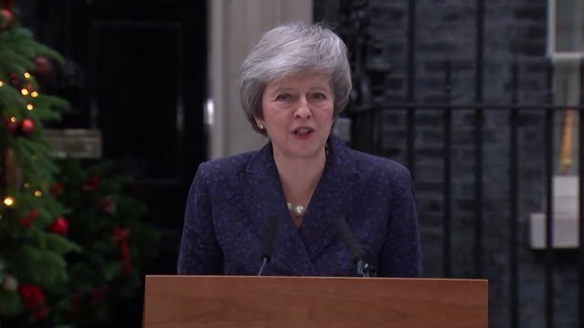 theresa may statement after the vote of no confidence was announced - theresa may stock videos & royalty-free footage