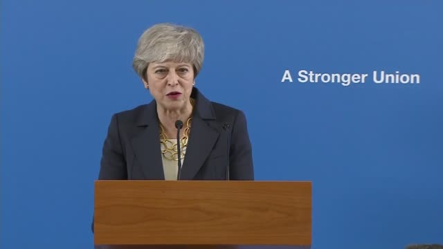 theresa may stresses the importance of the union during speech in scotland; scotland: stirling: int theresa may mp question and answer session - q&a... - stirling stock videos & royalty-free footage