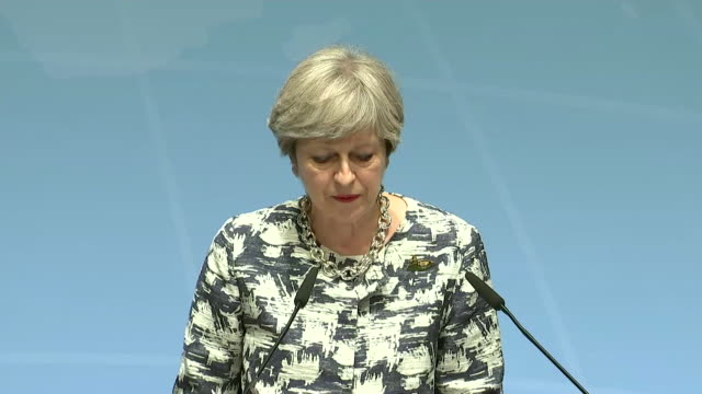 theresa may talks about the uk's climate change policies and how she feels this will be important to consumers and businesses of the future - communication stock videos & royalty-free footage