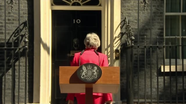 theresa may to resign as conservative party leader may quotes late sir nicholas winton regarding compromise england london downing street ext theresa... - theresa may stock videos & royalty-free footage