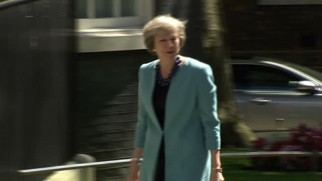 theresa may took an axe to the top tier of government today as key figures from the david cameron era were sacked and entire government departments... - priti patel stock-videos und b-roll-filmmaterial
