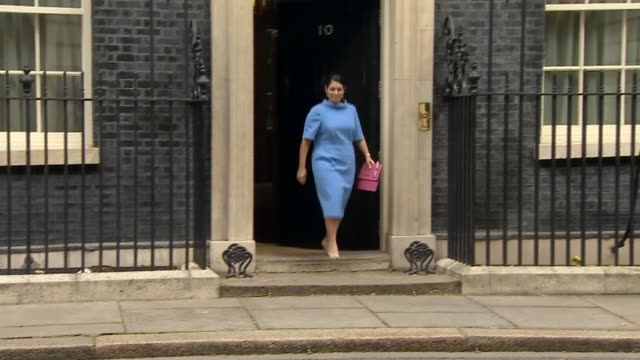 theresa may under pressure to sack boris johnson and priti patel over ministerial gaffes r241017006 ext priti patel mp from number 10 - priti patel stock-videos und b-roll-filmmaterial