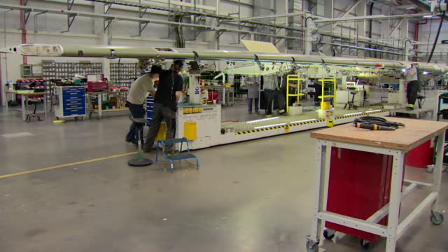 Theresa May visiting the Bombardier factory in Northern Ireland
