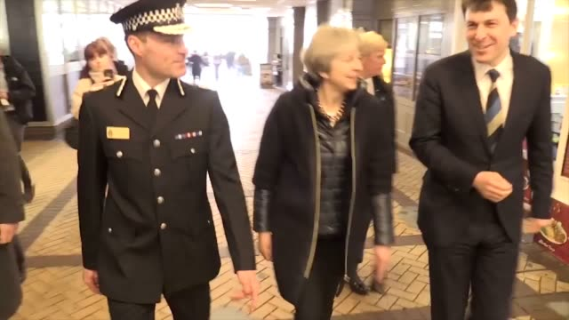 Theresa May visits Salisbury in the aftermath of nerve agent attack She also spoke with the first responders to the scene