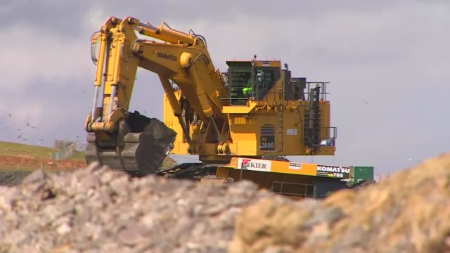 Theresa May will give the go ahead for Hinkley Point nuclear deal R29071611 / Somersey Hinkley EXT Hinkley construction site with dumper trucks...
