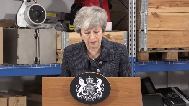 theresa may's brexit speech at orsted in grimsby in full. the prime minister addressed workers at the renewable energy firm ahead of tuesday's... - may stock videos & royalty-free footage