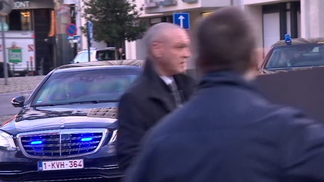 Theresa May's motorcade attacked by anti Brexit protester as she arrives at EU in Brussels